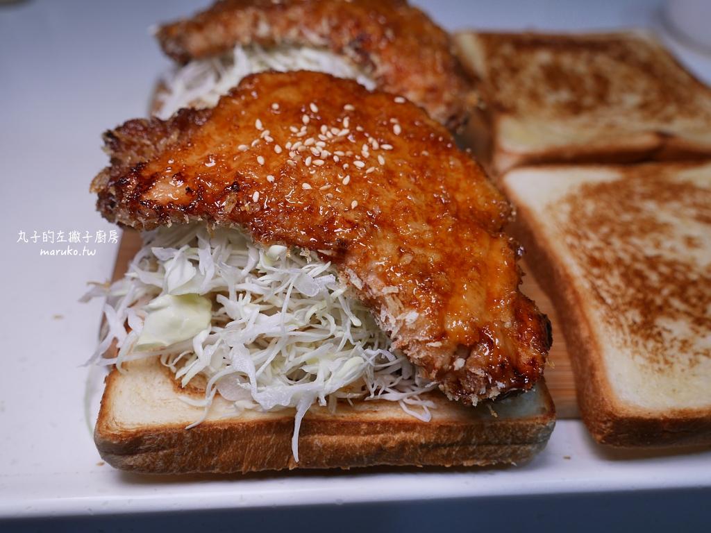 【氣炸鍋食譜】炸豬排三明治|名古屋風豬排三明治用醬料包簡單做 @Maruko與美食有個約會