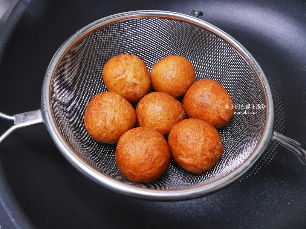 【食譜】沖繩甜甜圈|二樣食材簡單做球型甜甜圈 @Maruko與美食有個約會