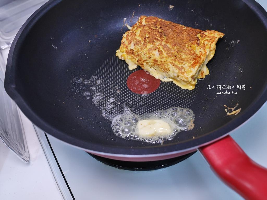 【食譜】韓式吐司煎蛋|讓煎蛋更有分量的韓式高麗菜煎蛋做法 @Maruko與美食有個約會