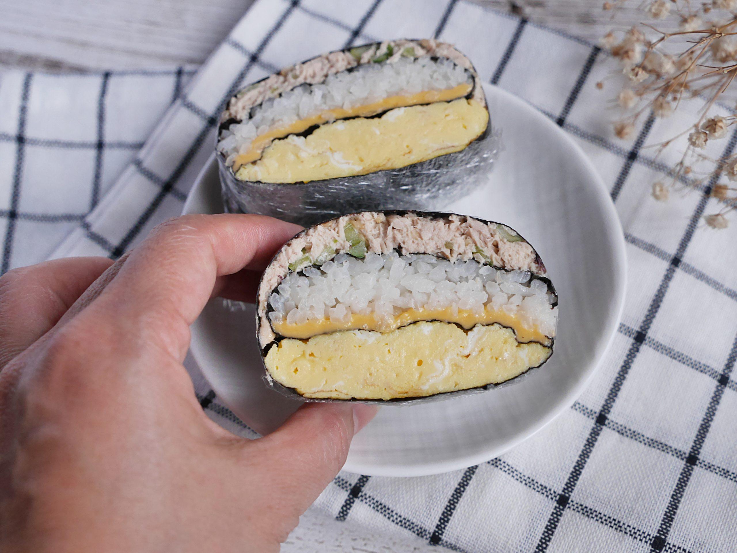 【食譜】摺疊紫菜包飯/不用捲只要三個步驟做韓式紫菜包飯/鮪魚沙拉這樣做更爽口