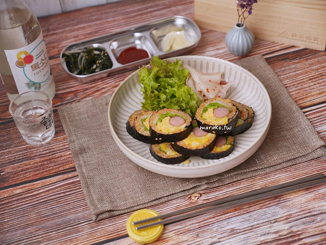 【食譜】韓式香腸起司玉米辣味紫菜包飯 這樣做更爽口 秋文商號 儲米盒實用心得分享 @Maruko與美食有個約會