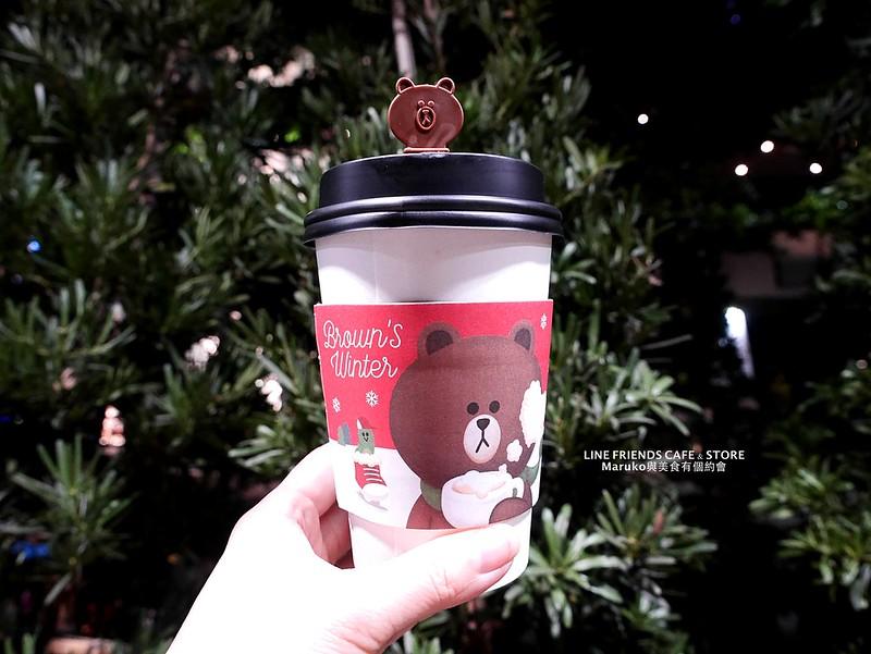 【台北信義】LINE FRIENDS Cafe & Store|全台首家CHOCO粉紅店店舖五大拍照主題和熊美一起喝咖啡可愛抹茶熊大雞蛋糕台灣限定 @Maruko與美食有個約會