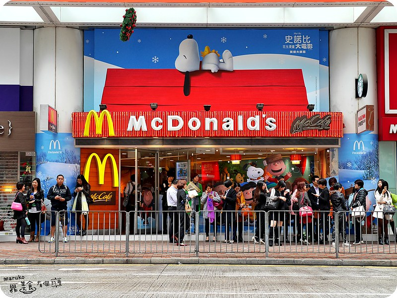【香港聖誕】Snoopy史努比主題店|銅鑼灣廣場二期麥當勞變身主題餐廳 @Maruko與美食有個約會