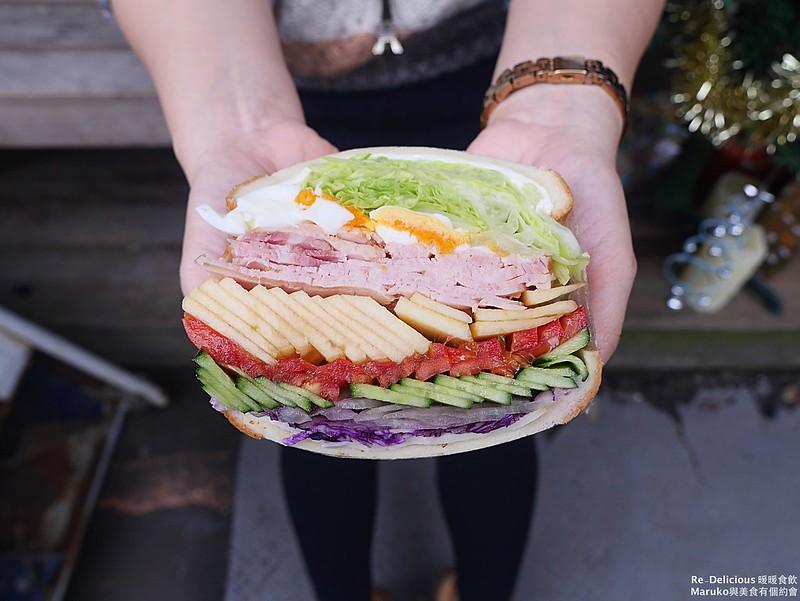 【台北美食】暖暖食飲|隱藏版巨無霸三明治想吃需要先預約 @Maruko與美食有個約會