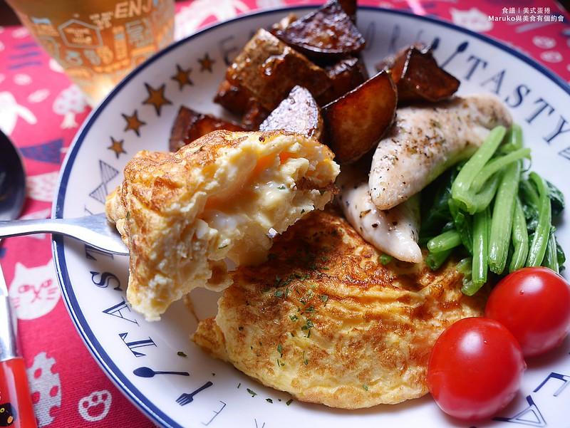 【食譜】美式蛋捲|二顆雞蛋的早午餐美式歐姆蛋捲 @Maruko與美食有個約會