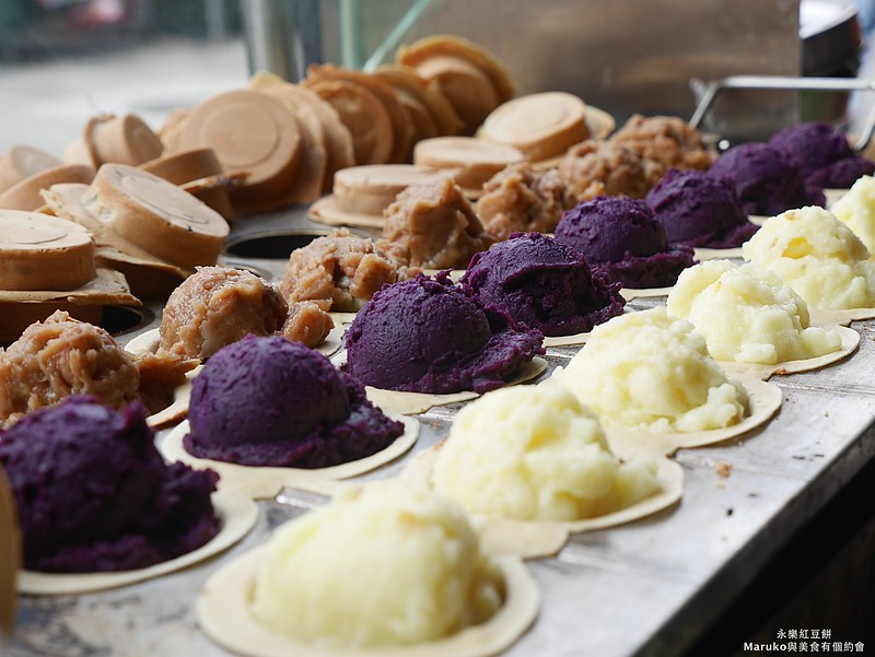 【台北美食】永樂車輪餅|迪化街人氣銅板美食料多實在好味道 @Maruko與美食有個約會