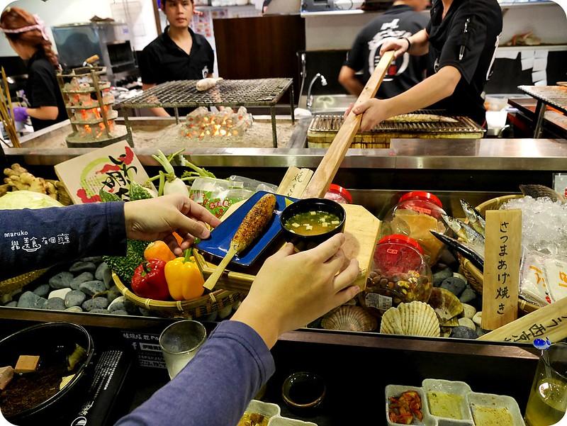 【台北中山區】狸爐端燒居酒屋|船槳送菜彷彿重遊日本吃烤糰子的想念。八條通內 / 中山商圈 @Maruko與美食有個約會