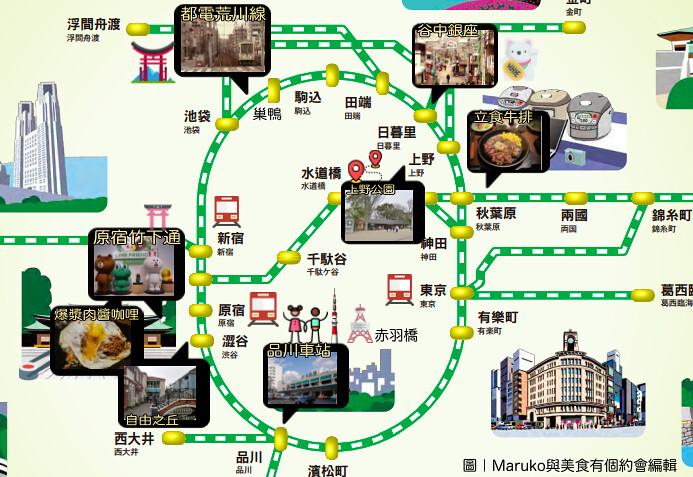 【東京自助交通】JR山手線一日交通券|東京都心山手線一日行程推薦 @Maruko與美食有個約會