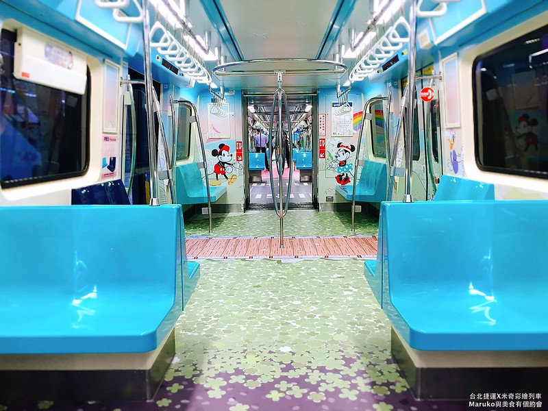 【米奇趣遊台北彩繪列車】台北捷運淡水信義線|慶祝米奇90周年首台迪士尼卡通明星列車登場(含發車時刻表) @Maruko與美食有個約會