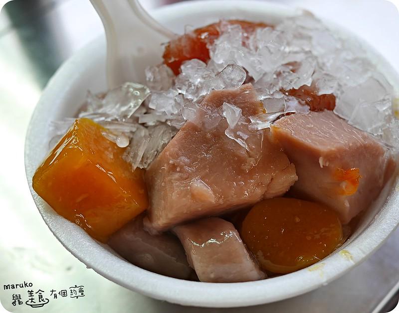 【台北大安】九份芋圓刀削冰|臨江街夜市裡的人氣古早味冰品 @Maruko與美食有個約會