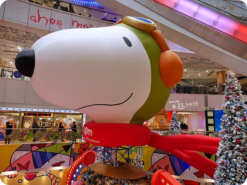 【香港聖誕】apmx史諾比飛越夢想聖誕|超巨型復古飛行帽史努比出現在apm x 史諾比飛越夢想聖誕」展覽 @Maruko與美食有個約會