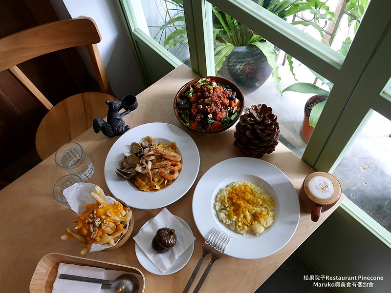 【台北美食|松山】松果院子|寧靜民生社區富錦街的午間小食光竟然有好吃的炸雞 @Maruko與美食有個約會