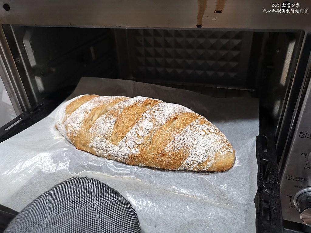 【食譜】軟式法國麵包|利用長時間發酵的免揉麵包做法分享 @Maruko與美食有個約會