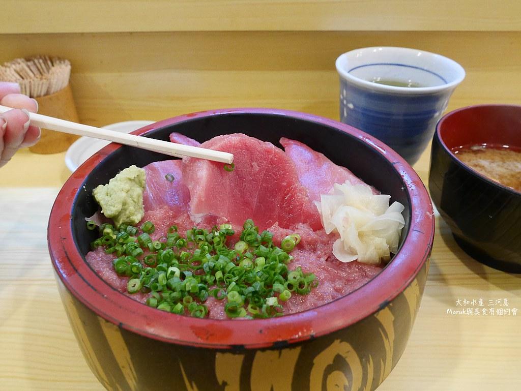 【東京美食】大和水產|午間才有供應的滿足鮪魚蓋飯專門店 @Maruko與美食有個約會