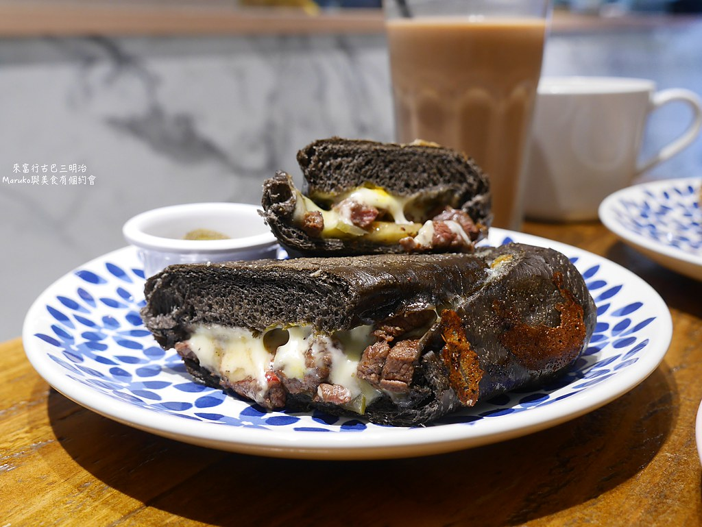 【板橋美食】來富行古巴三明治|Choice原塊牛排黑可可古巴三明治挑逗你的味蕾 @Maruko與美食有個約會