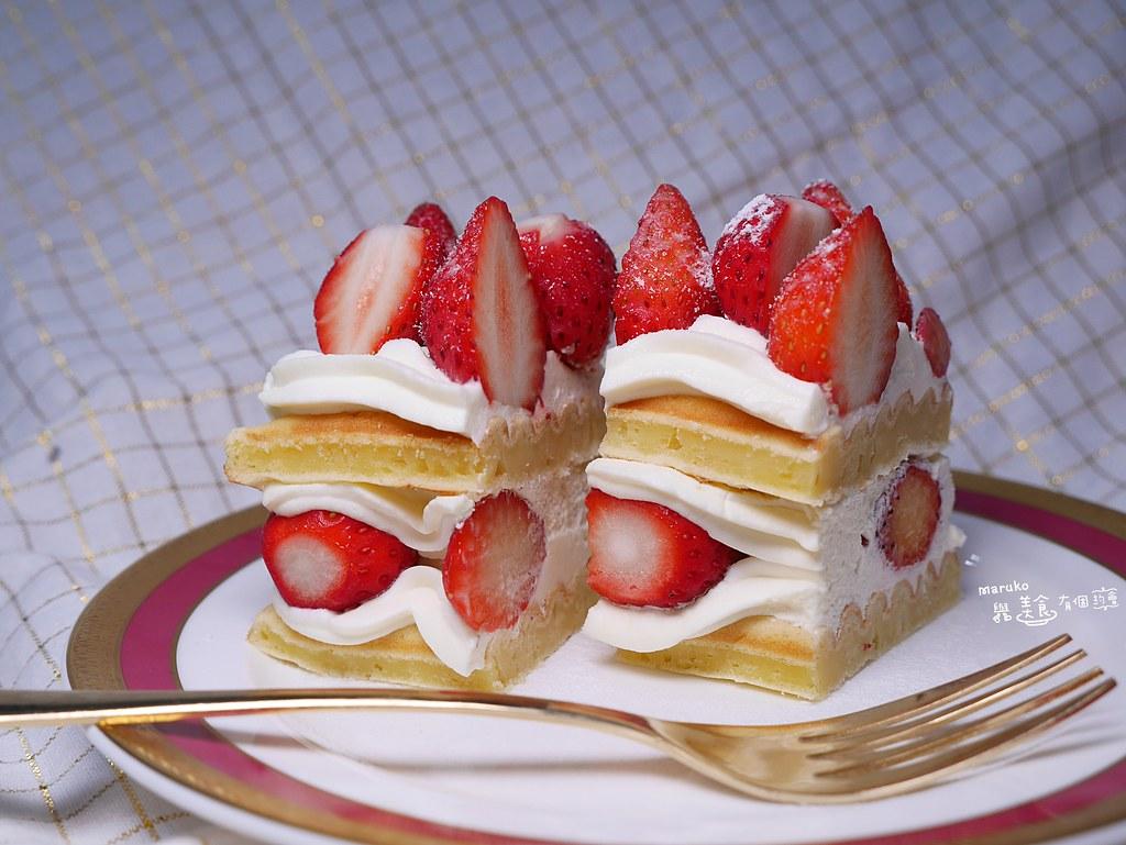 【鬆餅機食譜】草莓奶油蛋糕|免排隊只要四分鐘就能製作超人氣草莓鮮奶油蛋糕 @Maruko與美食有個約會
