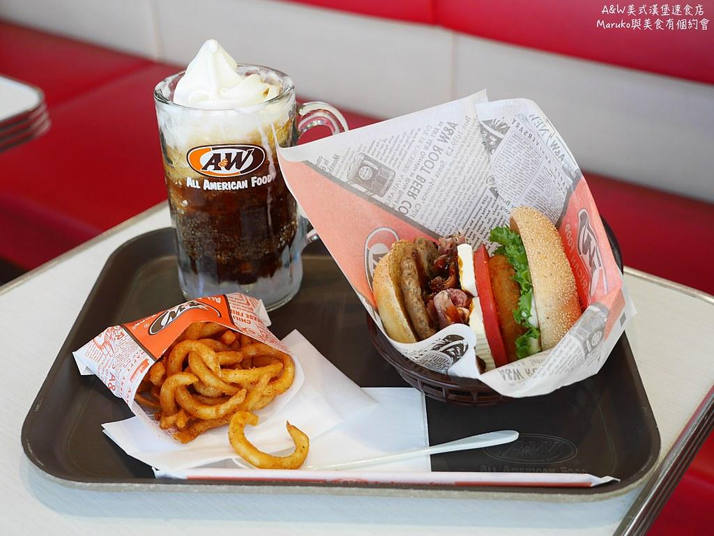 【沖繩美食】A&W美式漢堡速食店|美國連鎖速食店在沖繩經典麥根沙士清涼又暢快 @Maruko與美食有個約會