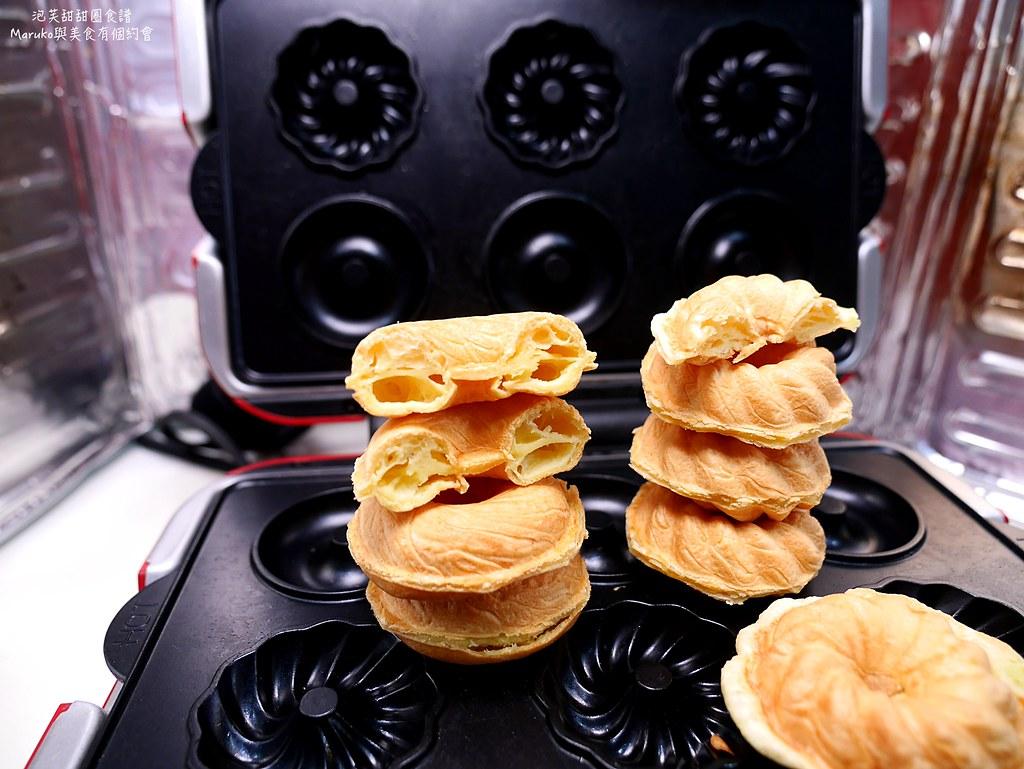【食譜】泡芙甜甜圈|用鬆餅機做甜甜圈店受歡迎的法蘭奇甜甜圈 @Maruko與美食有個約會