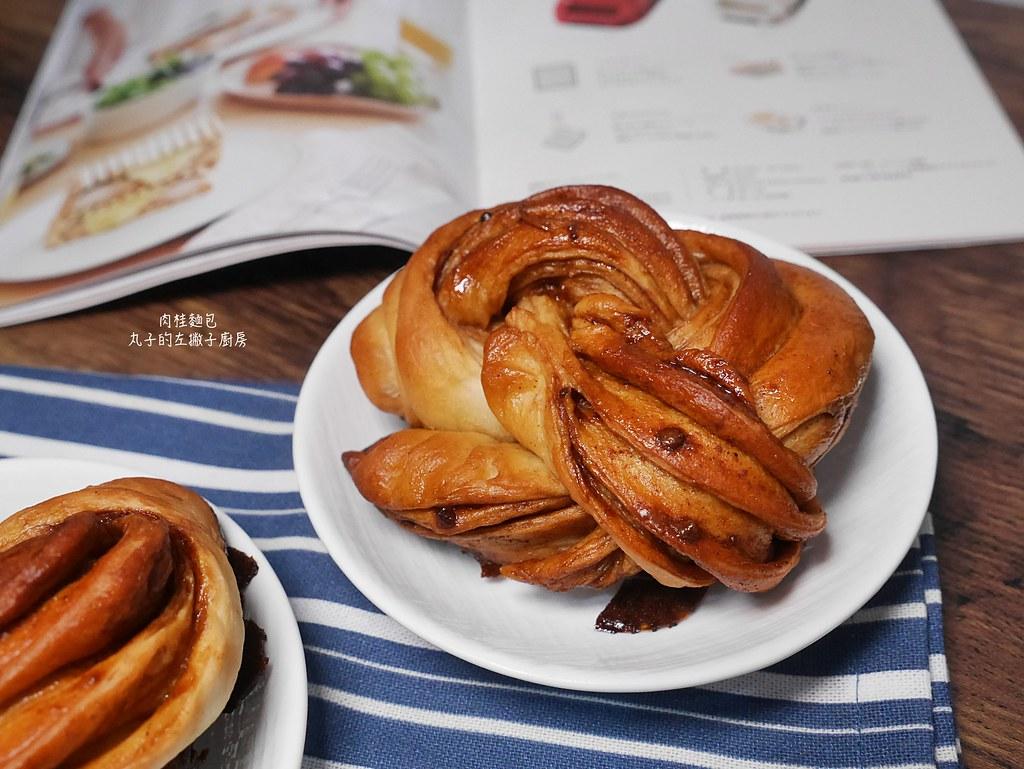 【食譜】肉桂捲麵包|口感香脆的肉桂捲麵包花型捲法教學 @Maruko與美食有個約會