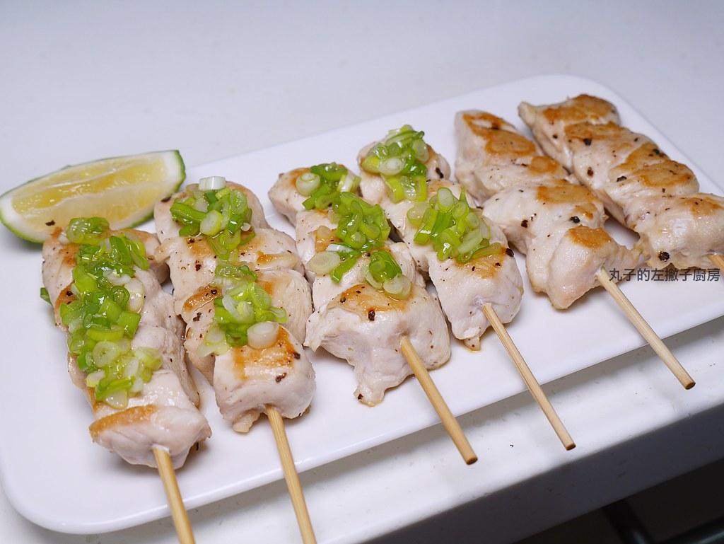 【食譜】檸檬鹽蔥雞肉串|平底鍋也能做居酒屋串燒料理 @Maruko與美食有個約會