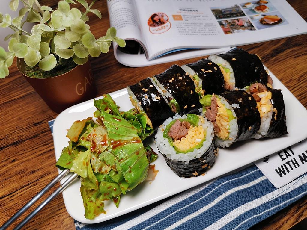【食譜】生菜包肉紫菜飯捲|想吃生菜包肉又想吃紫菜飯捲的完美組合 @Maruko與美食有個約會
