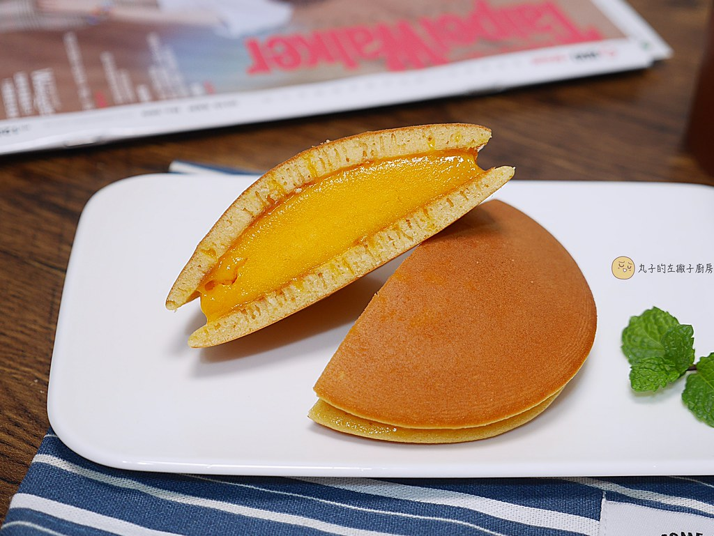 【食譜】芒果冰淇淋銅鑼燒|夏天一定要吃的新鮮芒果變身為華麗的銅鑼燒冰淇淋 @Maruko與美食有個約會