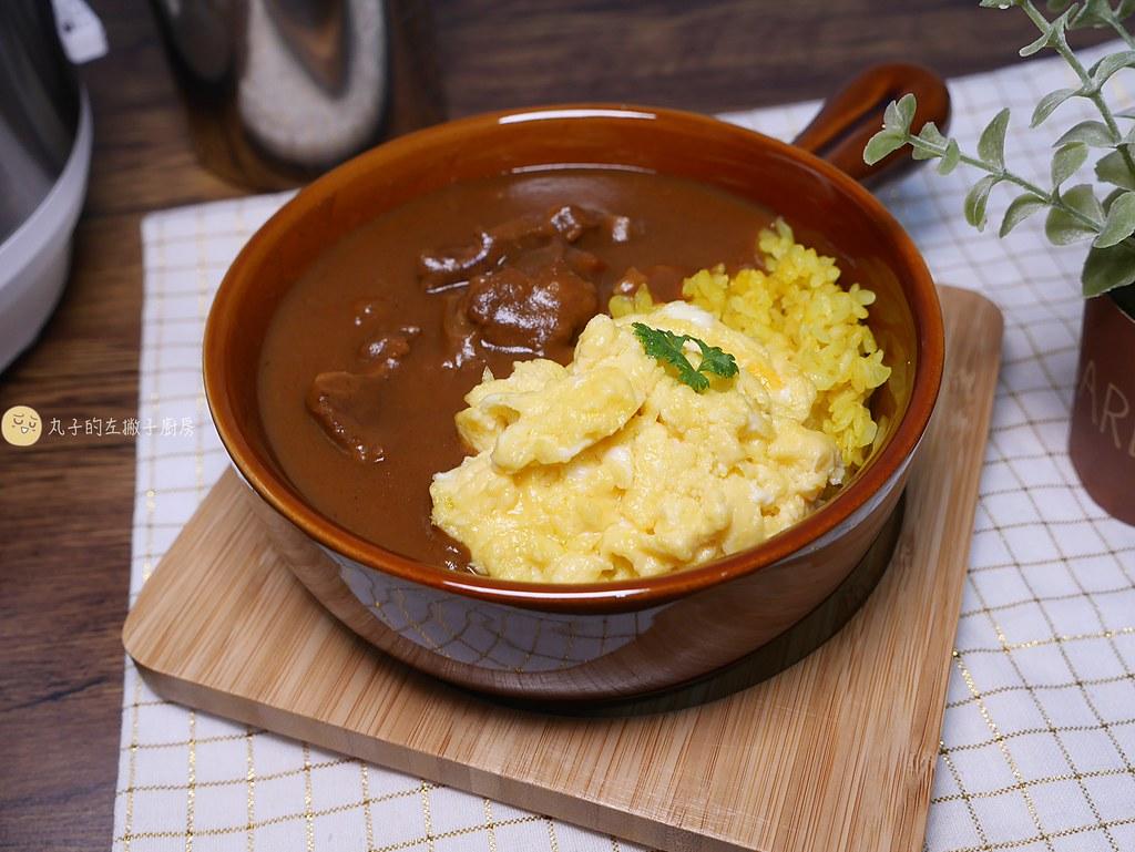 【食譜】日式牛肉咖哩|用電子鍋燉牛腩快速又入味的做法 @Maruko與美食有個約會