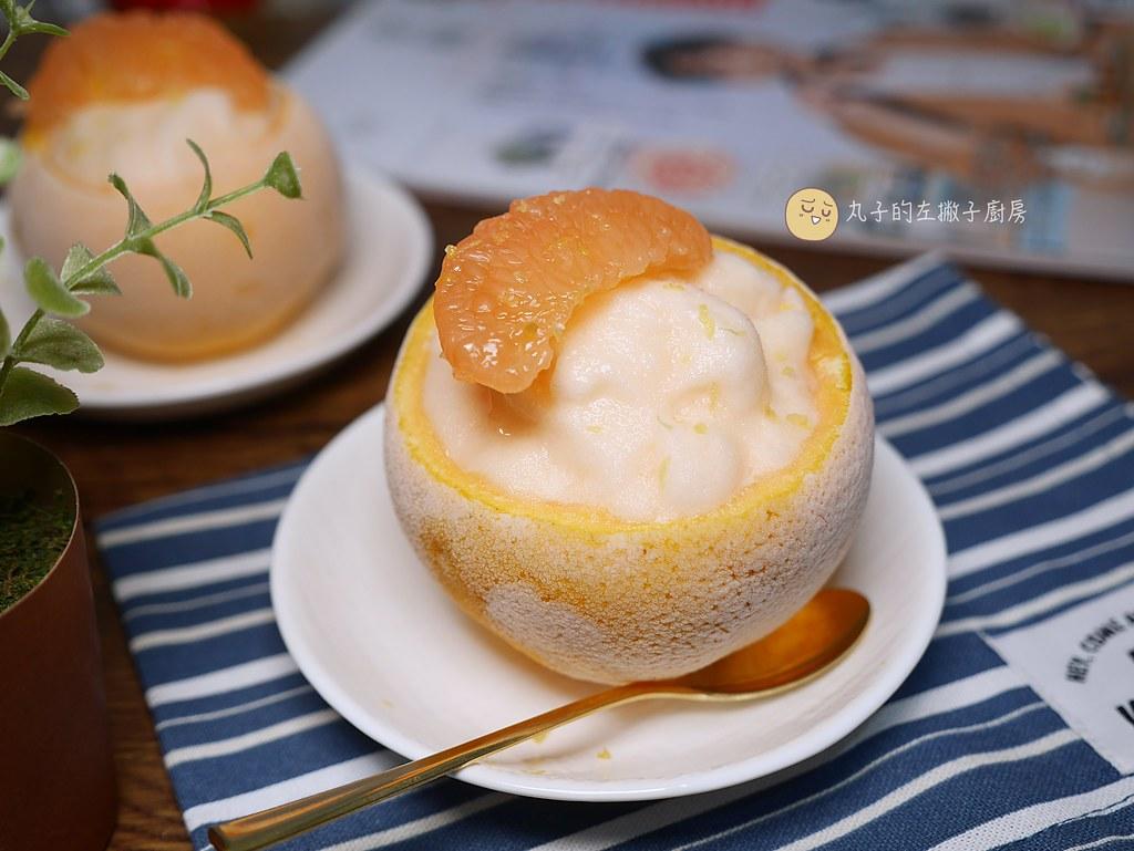 【冰品食譜】葡萄柚雪酪|百分百果汁的葡萄柚冰沙綿密口感更消暑 @Maruko與美食有個約會