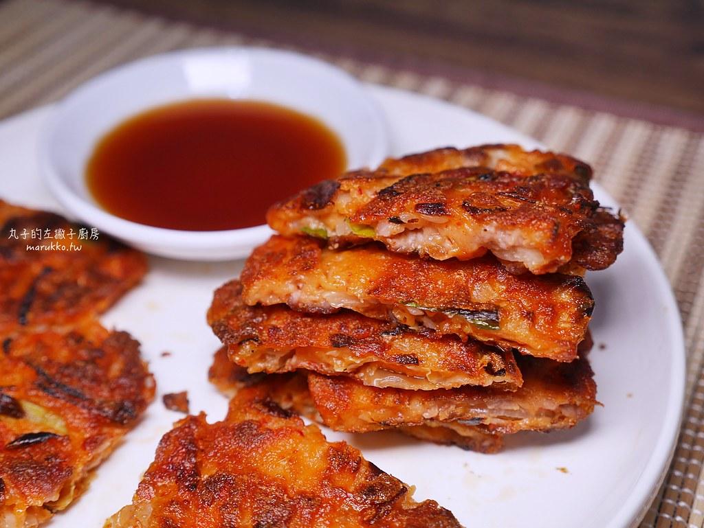 【食譜】泡菜煎餅|不用沾醬也美味的韓國泡菜煎餅抓住祕訣就能酥脆 @Maruko與美食有個約會