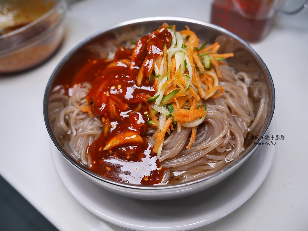 【食譜】韓式冷麵|韓式蕎麥拌冷麵辣醬做法 @Maruko與美食有個約會