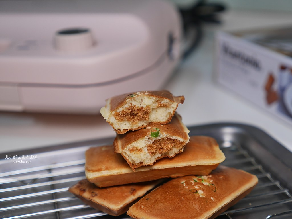 【鬆餅機食譜】香蔥肉鬆金磚蛋糕|用費南雪烤盤做中式金磚蛋糕 @Maruko與美食有個約會
