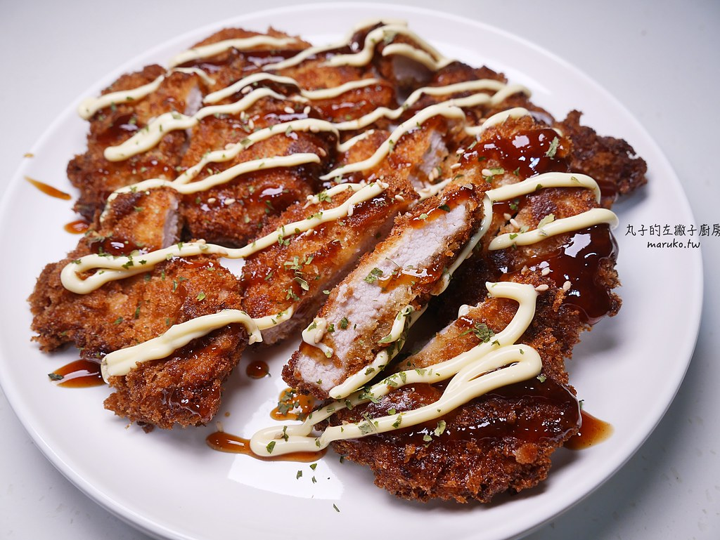 【食譜】日式炸豬排做法|剩下的吐司做麵包粉炸豬排更酥脆 @Maruko與美食有個約會