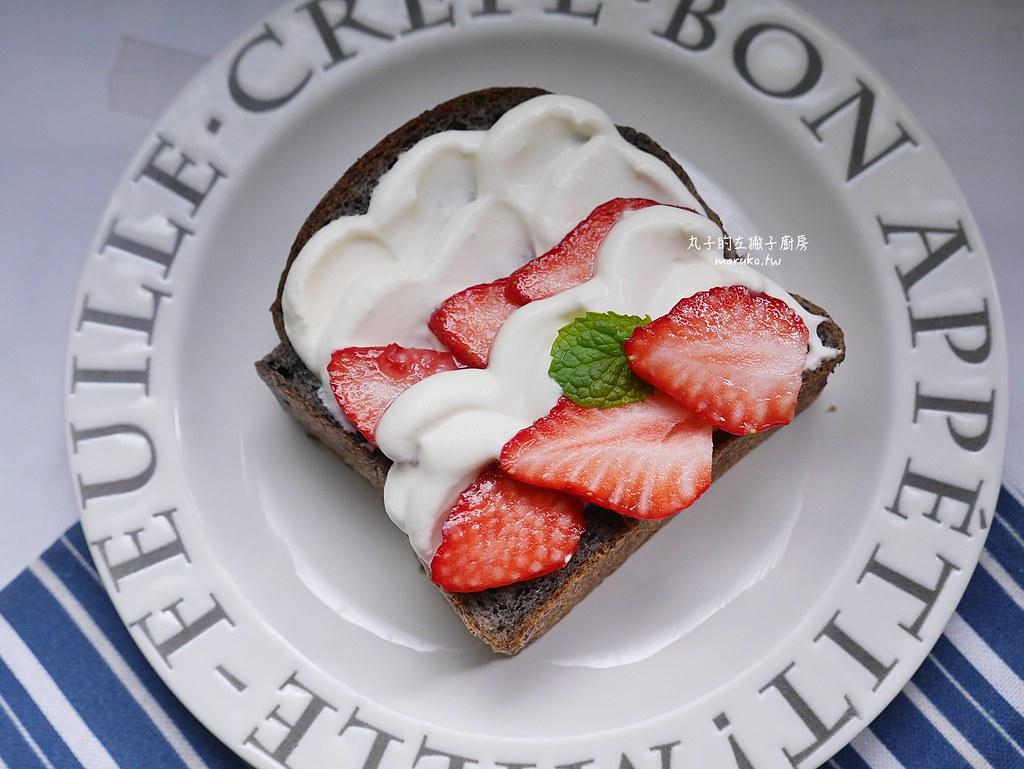 【食譜】草莓油畫吐司|用不完的鮮奶油就拿來創作吧 @Maruko與美食有個約會