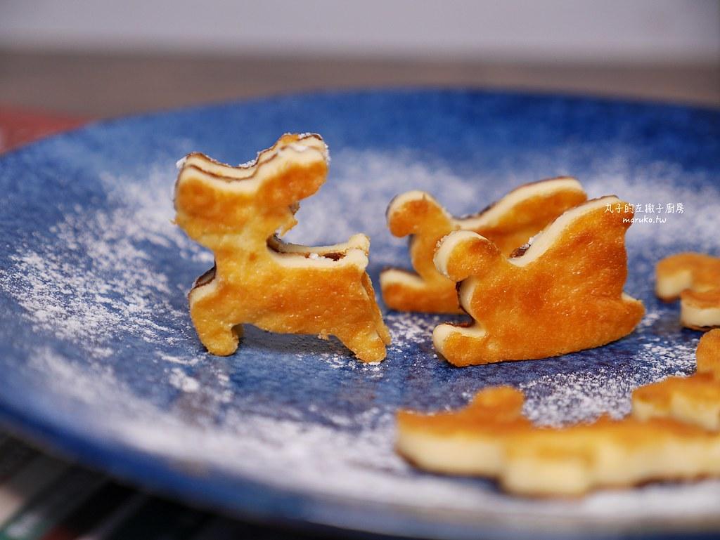 【食譜】巴斯克乳酪蛋糕|我把巴斯克乳酪蛋糕變可愛了,聖誕節造型點心 @Maruko與美食有個約會
