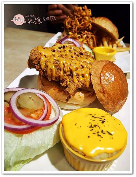 【新北市板橋區】Dishes 好盤美味廚房|不可錯過的超值美味漢堡 @Maruko與美食有個約會