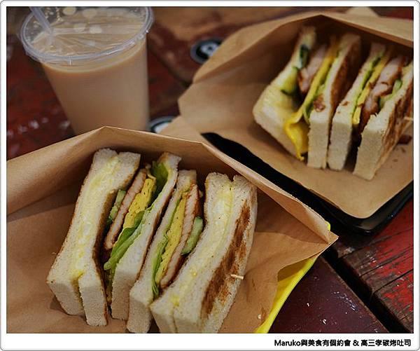 【台北中正】高三孝碳烤吐司|懷舊的學生早餐 @Maruko與美食有個約會